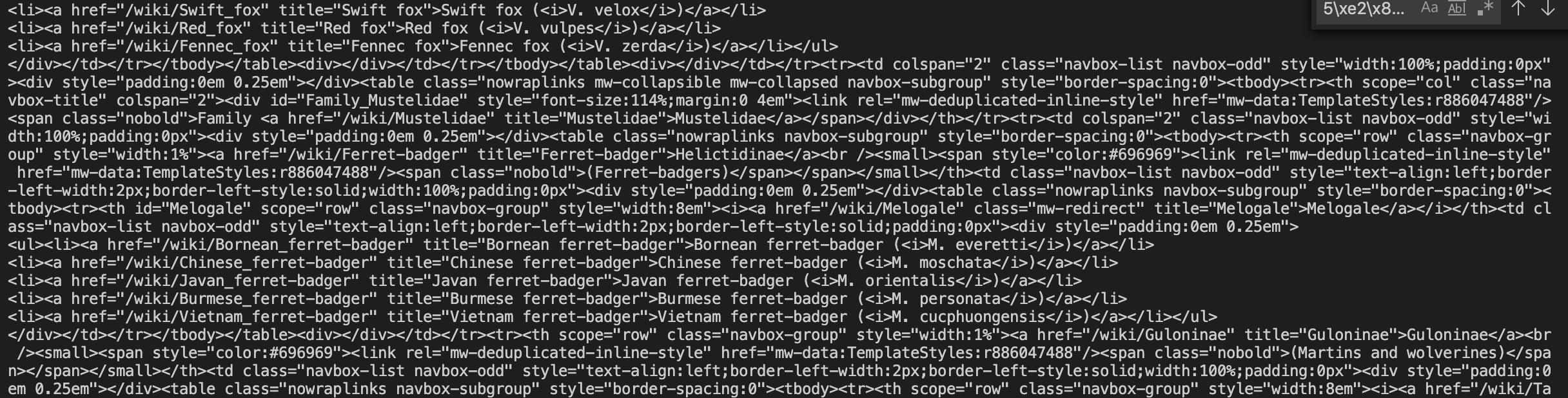 Bad HTML
